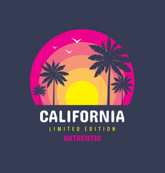 california - concept logo badge vector image