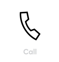 call icon editable outline vector image