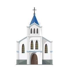 Catholic church icon isolated on white background vector image