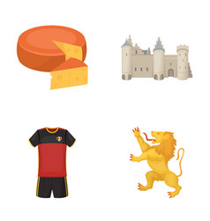 cheese lion and other symbols of the country vector image