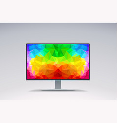 Colorful image on wide screen vector
