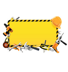 construction frame with tools vector image