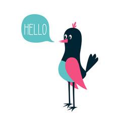 cute bird scandinavian vector image
