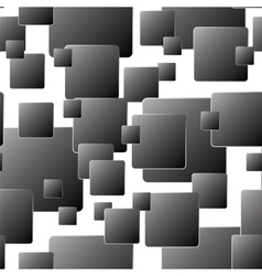 Dark seamless background of squares vector