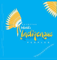 Day worlds indigenous peoples vector