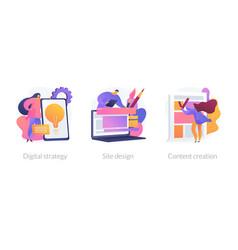 Digital pr concept metaphors vector