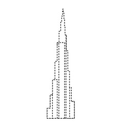 Dubai skyscraper tower vector
