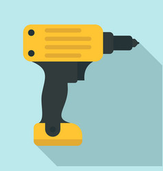 electric wireless drill icon flat style vector image