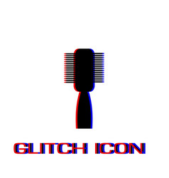 fashion comb icon flat vector image