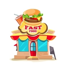fast food Restaurant and vector image