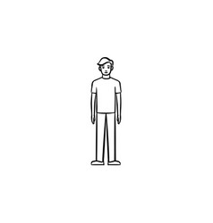 figure of a person hand drawn sketch icon vector image