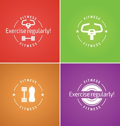 Fitness logo for design website infographic po vector