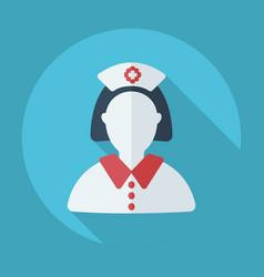 Flat modern design with shadow nurse doctor vector