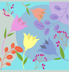 floral simple flower seamless pattern cute vector image