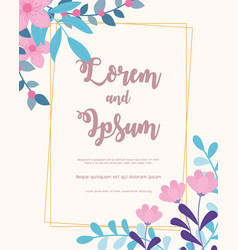 flowers wedding save date invitation vector image