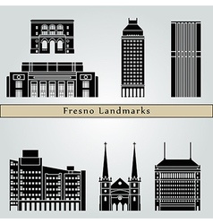 Fresno landmarks and monuments vector image