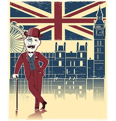 Gentleman with London background vector image