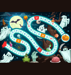 halloween board game for children template vector image