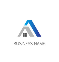 Home roof realty business company logo vector