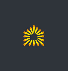 house colorful fiber dot logo design home vector image