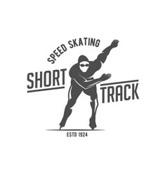 ice skating label logo design elements vector image