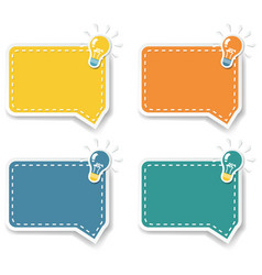 Idea with speech bubble isolated white background vector