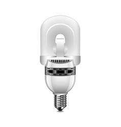 induction light bulb isolated on white vector image vector image