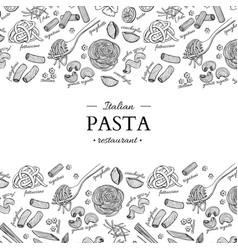 Italian pasta restaurant vintage vector