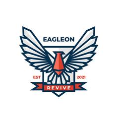 logo eagle simple mascot style vector image