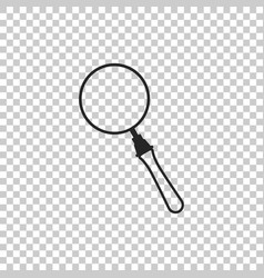 magnifying glass icon on transparent background vector image