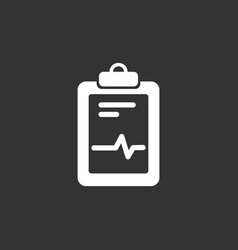 medical chart icon on a black background vector image
