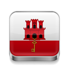 Metal icon of Gibraltar vector image