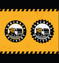 modern professional logo emblem concrete delivery vector image