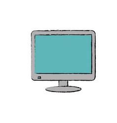modern smart tv vector image