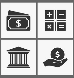 money investments icons vector image