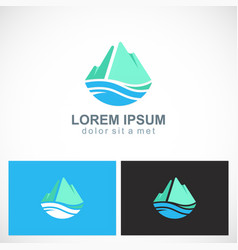 mountain abstract water logo vector image