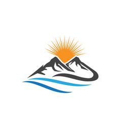 Mountains logo template icon vector