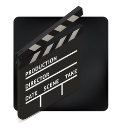 Movie clapper board isometric vector