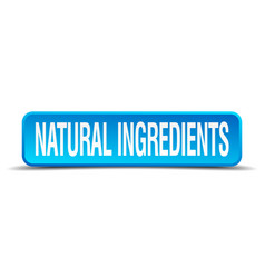 Natural ingredients vector