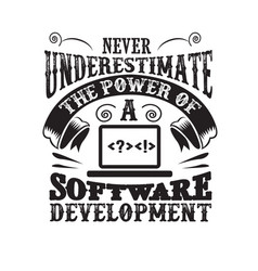 never underestimate power a software vector image
