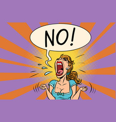 No furious screaming woman vector
