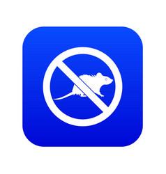 No rats sign icon digital blue vector