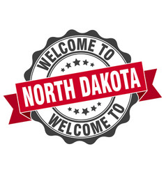 North dakota round ribbon seal vector