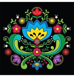 Norwegian folk art Bunad pattern - Rosemaling styl vector