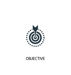 objective icon simple element vector image