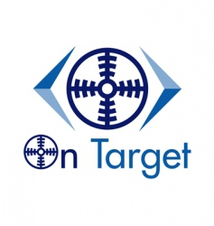 On target logo vector