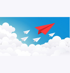 Paper plane background creative concept idea vector
