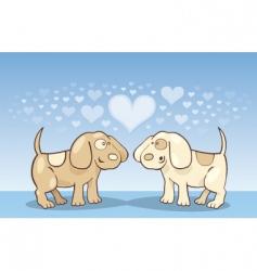 puppies in love vector image