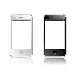 Realistic mobile phone with blank screen isolated vector image