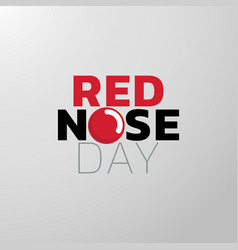 Red nose day icon design medical logo vector